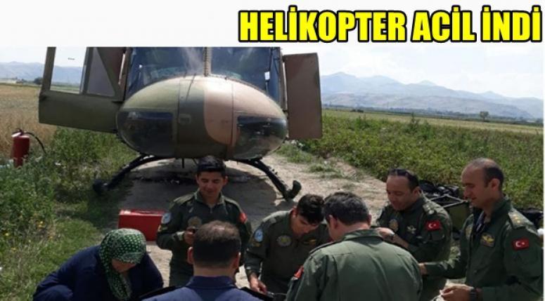 Afyon'da Helikopter Acil iniş yaptı !!!