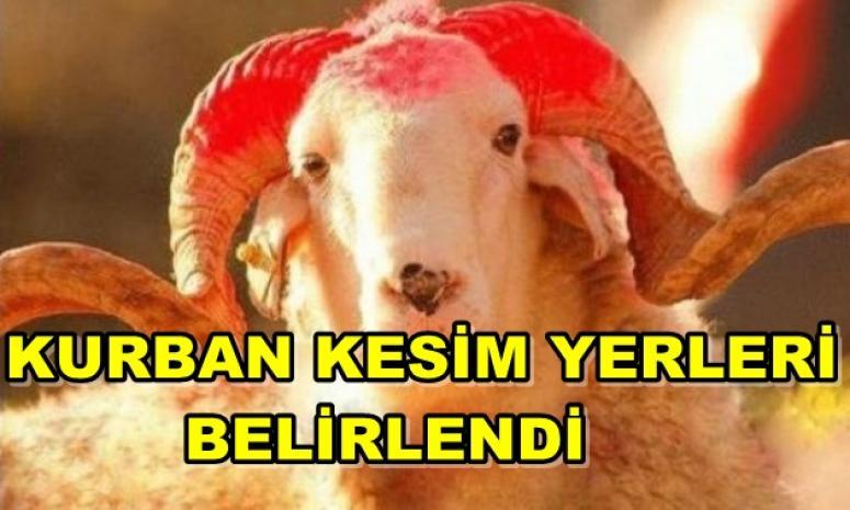 KURBAN KESİM YERLERİ BELİRLENDİ