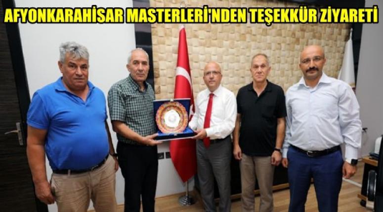 AFYON MASTERLERİ'NDEN TEŞEKKÜR ZİYARETİ