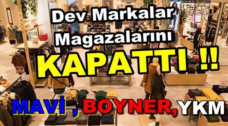 Mavi, Boyner ve YKM koronavirüs nedeniyle mağazalarını geçici olarak kapatıyor