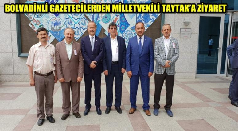 BOLVADİNLİ GAZETECİLER TAYTAK'I ZİYARET ETTİ