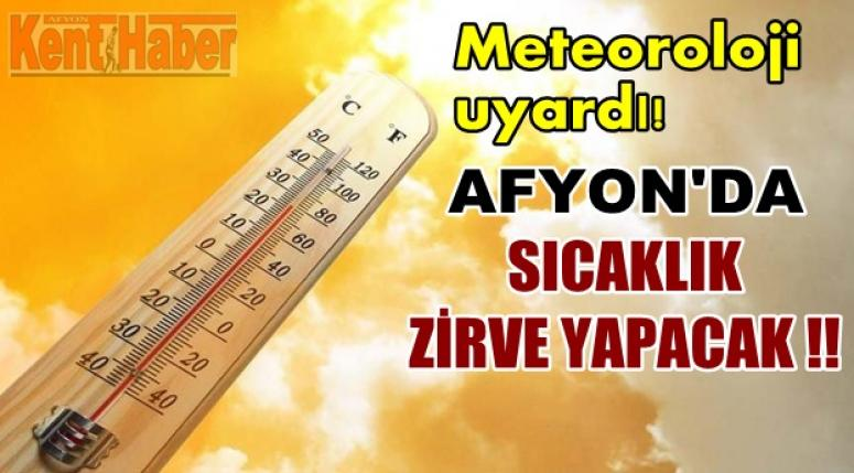 Afyon Hava Durumu !! Sıcak hava dalgası Afyon'a geliyor !!