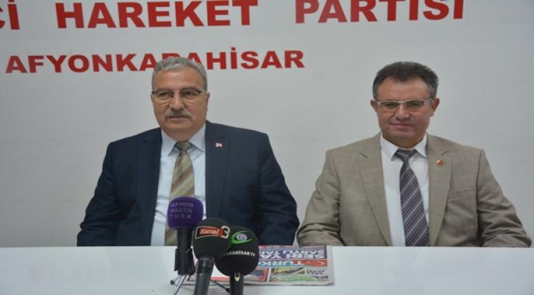 Afyonkarahisar MHP teşkilatı basın toplantısı yaptı !!