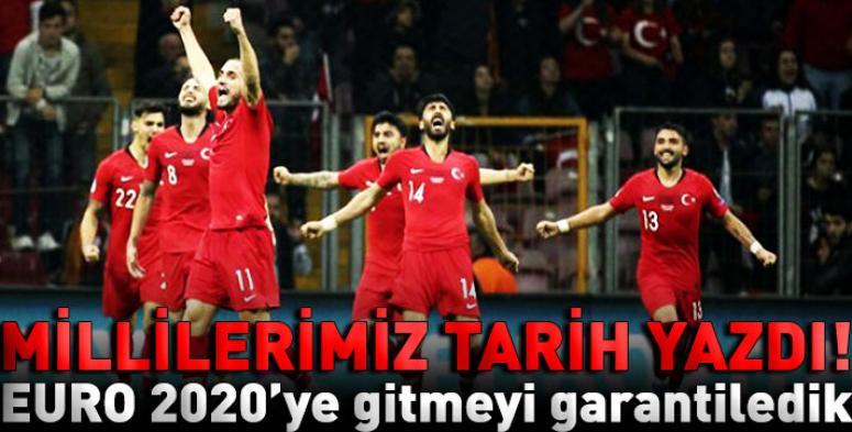 Türkiye, EURO 2020'ye gitmeyi garantiledi
