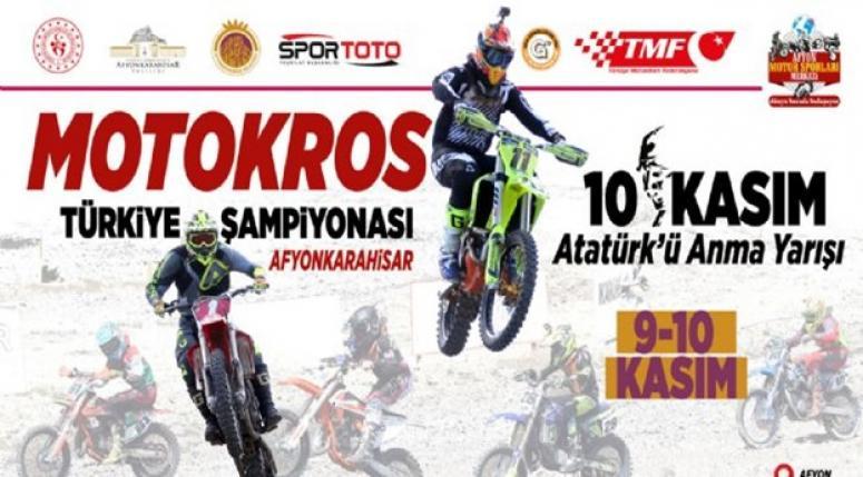 Motokros Şampiyonası Afyonkarahisar'da yapılacak