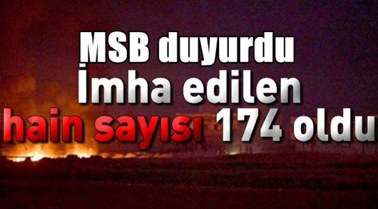 Etkisiz hale getirilen terörist sayısı 174 oldu !!