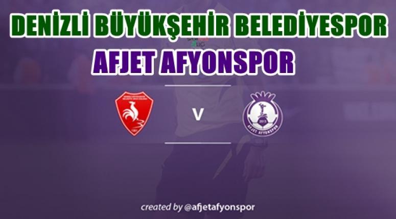 AFJET AFYONSPOR, DENİZLİ İLE KARŞILAŞACAK !!!
