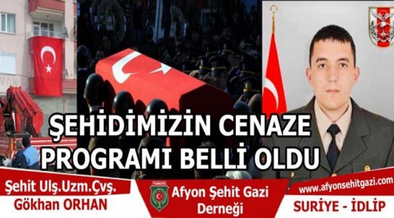 Şehit Uzm.Çvş.Gökhan Orhan'ın cenaze proğramı !!