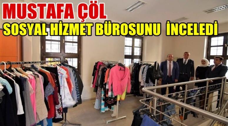 Mustafa Çöl, Sandıklı Sosyal Hizmet Bürosunu İnceledi !!
