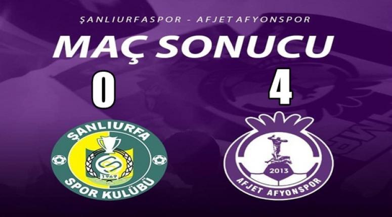 Şanlıurfaspor 0 - 4 Afjet Afyonspor'umuz