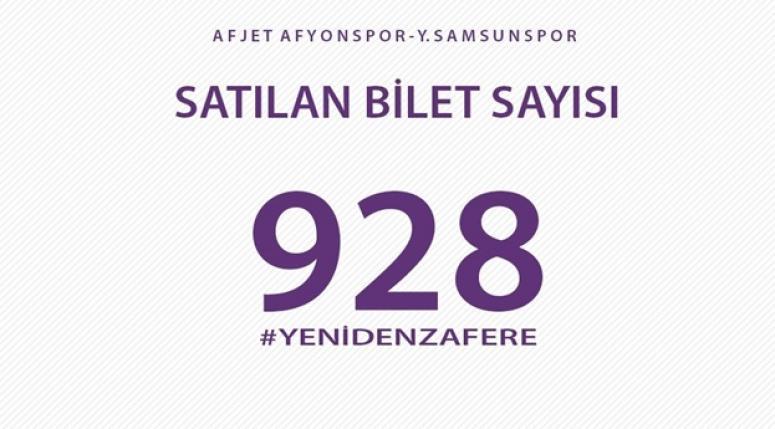 Afjet Afyonspor - Samsunspor maçına büyük ilgi !!