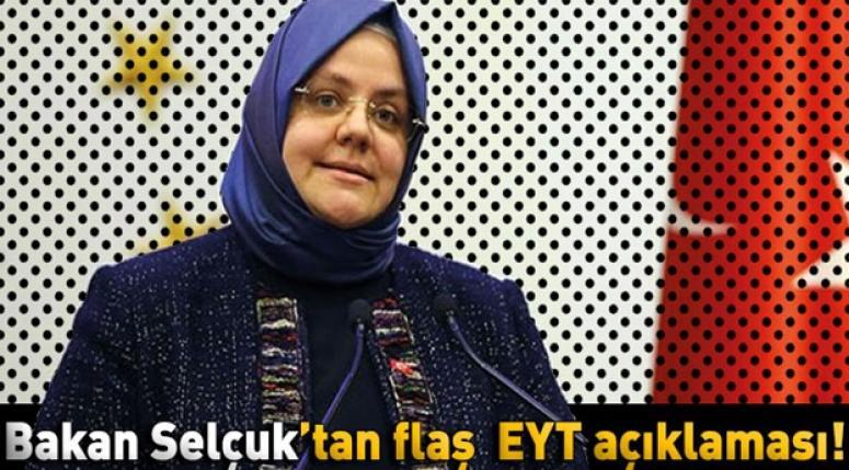 """Zehra Zümrüt Selçuk, """"EYT ile ilgili en az 10 analiz yaptık"""