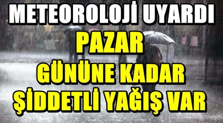 AFYON'DA ŞİDDETLİ YAĞIŞ !!!