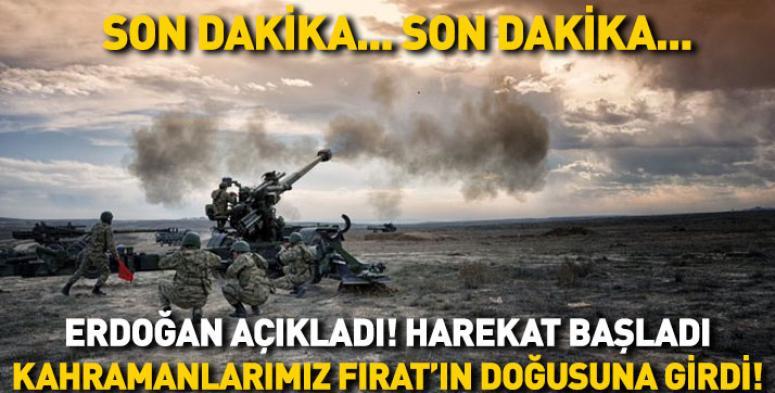 Erdoğan duyurdu !! Pınarı Harekatı resmen başladı !