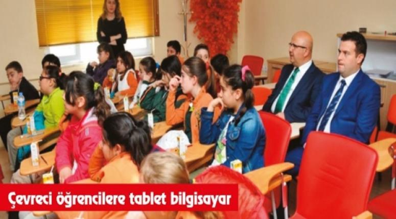Çevreci öğrencilere tablet bilgisayar