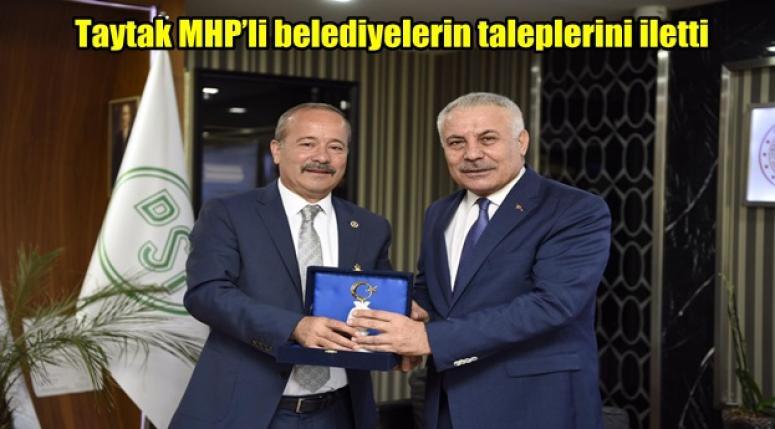 Taytak MHP'li belediyelerin taleplerini iletti