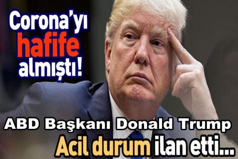 ABD Başkanı Donald Trump, Ulusal acil durum ilan etti