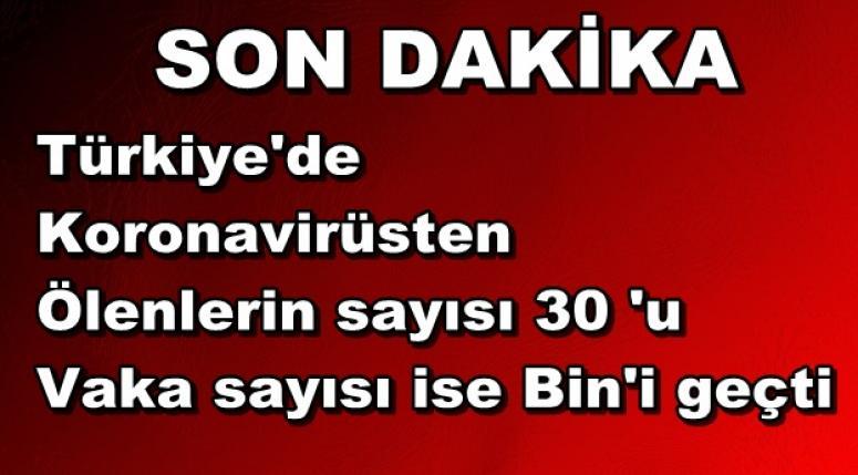 Türkiye'de koronavirüsten ölen ve vaka sayısı giderek artıyor !!