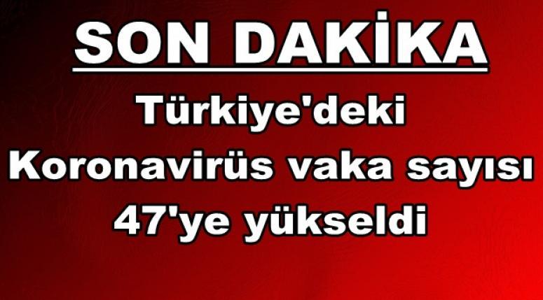 Türkiye'deki koronavirüs vaka sayısı 47'ye yükseldi !!