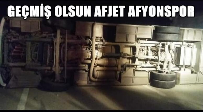 Afjet Afyonspor U-19 Takımı otobüsü kaza yaptı !!