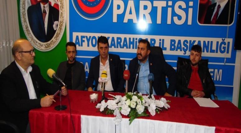 Ülkem Partisi İl Başkanlığı haftalık Basın toplantısı