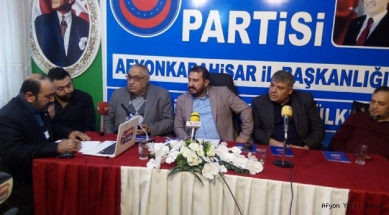 Afyonkarahisar Ülkem Partisi Gündemi değerlendirdi