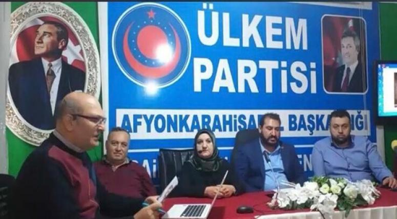 Afyon Ülkem Partisi Basın Açıklaması yaptı !!