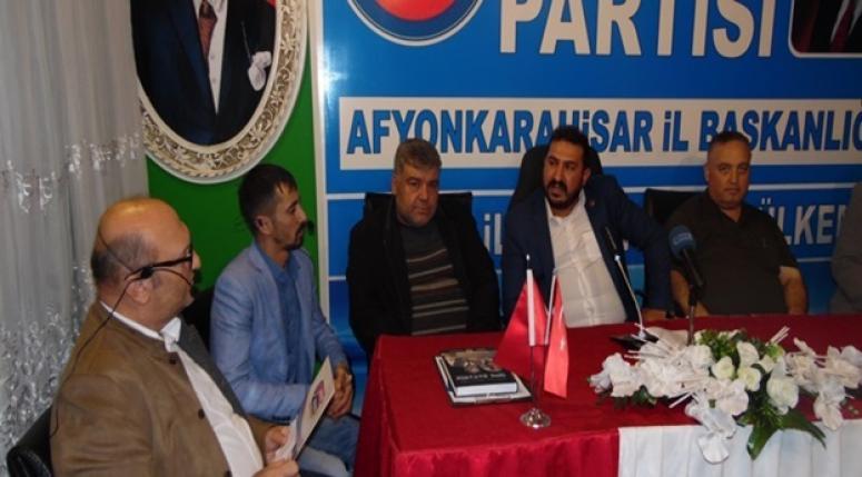 Ülkem partisi Afyonkarahisar İl Başkanlıgı Haftalık Basın açıklamasını yaptı.