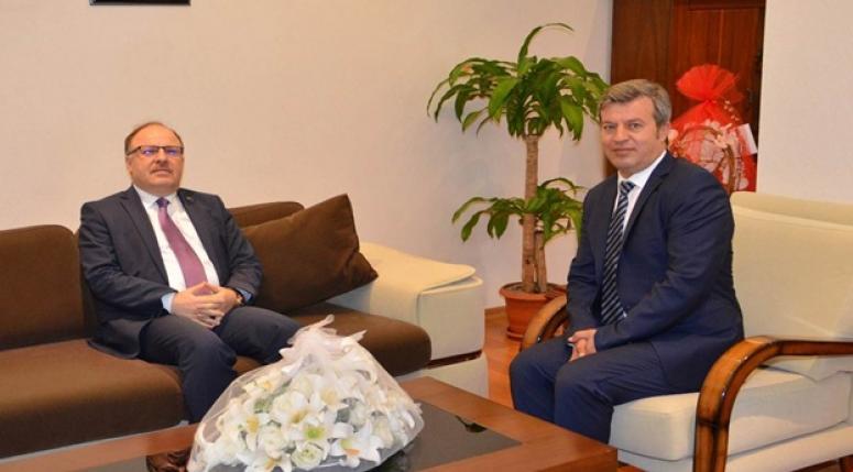 Vali Mustafa Tutulmaz Emniyet Müdür Vekiliniz ziyaret etti