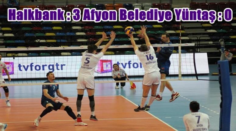 Halkbank : 3 Afyon Belediyesi Yüntaş : 0