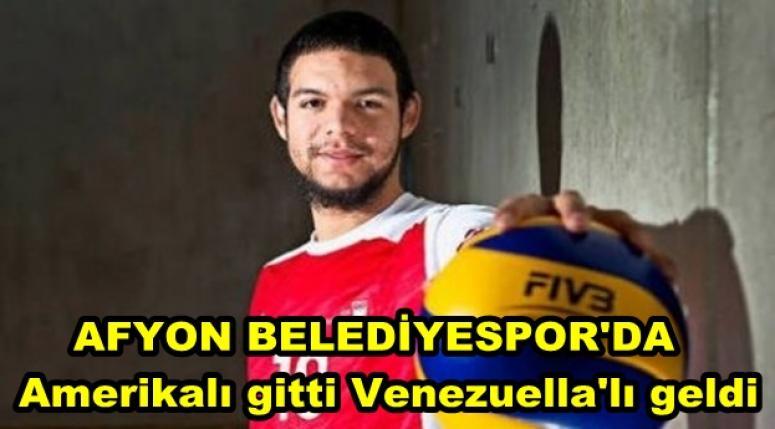 Afyon Belediyespor'da Amerikalı gitti, Venezuella'lı geldi