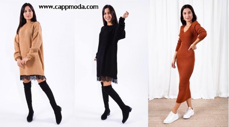 Yeni Sezon Kışlık Elbise Modelleri
