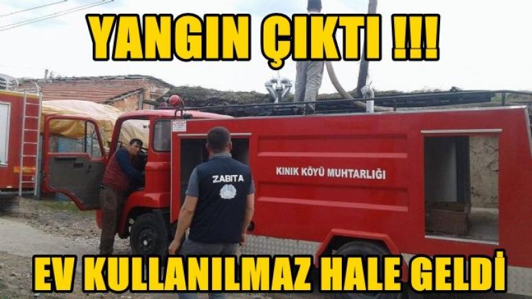 YANGIN EVİ KULLANILMAZ HALE GETİRDİ !!!