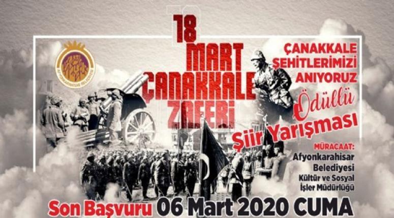 Afyonkarahisar Çanakkale Şehitlerini Anıyor Yarışma şartları