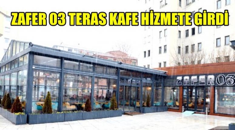 Afyon Zafer 03 Teras Kafe Müşterileni bekliyor