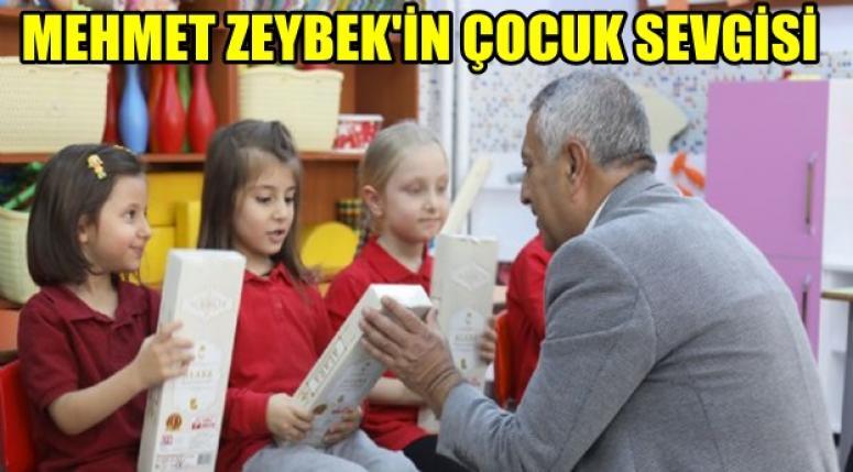 Mehmet Zeybek'in çocuklara olan sevgisi bambaşka
