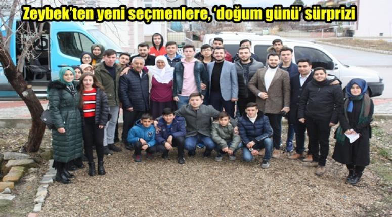Mehmet Zeybek'ten yeni seçmenlere sürprizi